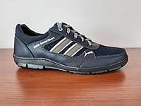 Кросівки чоловічі літні темно сині сітка ( код 914 ), фото 1