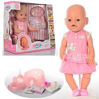 Детская интерактивная кукла Беби Бон в летнем платье (Baby Born 8009-439)