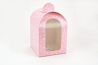 """Упаковка """"Купол"""" М0056-о4 розовая, размер: 160*160 мм, высота - 240 мм."""