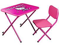 Детский регулированный стол парта Китти (Hello Kitty) розовый