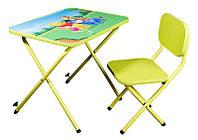 Письменный стол парта со стулом Винни Пух (Winnie the Pooh) лайм