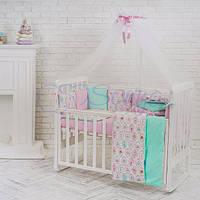 Постельный комплект в детскую кроватку Бэби дизайн Пирожные (7 предметов)