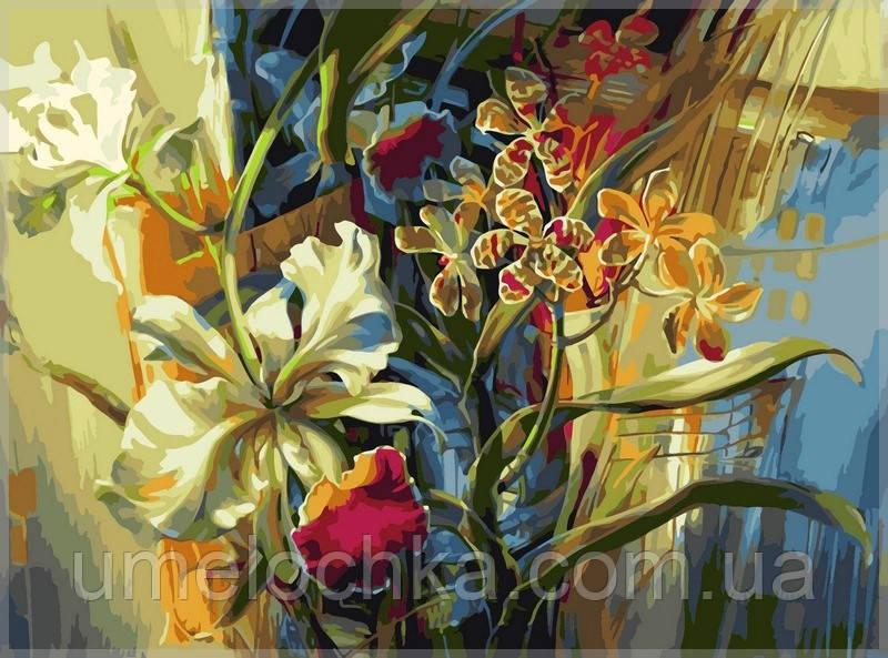 Картина по номерам Babylon Нежные орхидеи