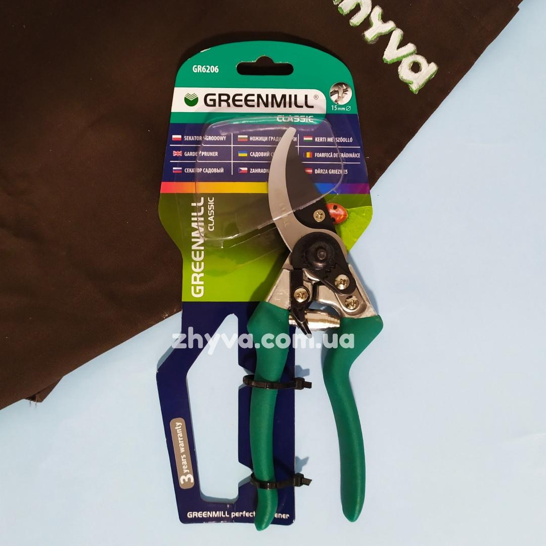 Сікатор садовий Greenmill GR6206 (зріз 15мм)