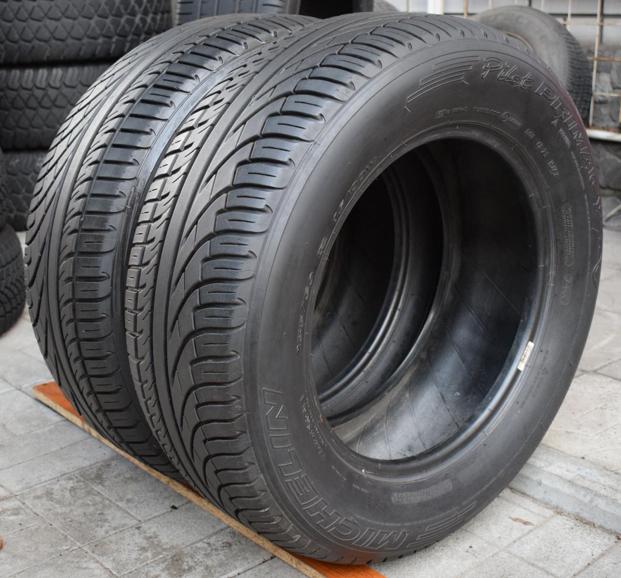 Шины б/у 235/60 R16 Michelin Pilot Primacy, ЛЕТО, 6-7 мм, пара