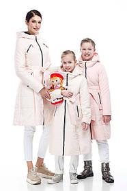 Зимний детский подростковый пуховик для девочки и мамы размеры 32-38, маме от 42 до 56
