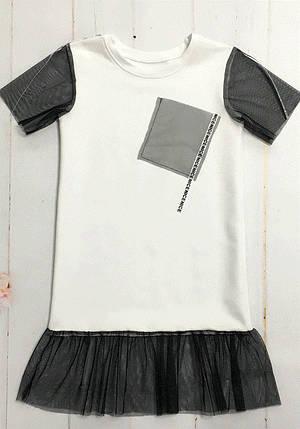 Оригинальное платье летнее для девочки, фото 2