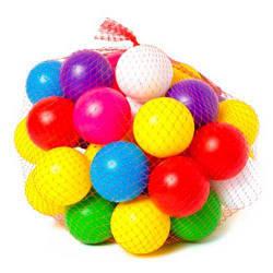Разноцветные шарики в сухой бассейн - малые 40 шт  sco