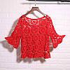 Мереживна блузка-накидка (в кольорах), фото 5