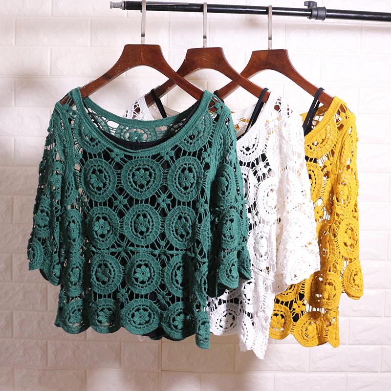 Кружевная блузка-накидка (в расцветках)