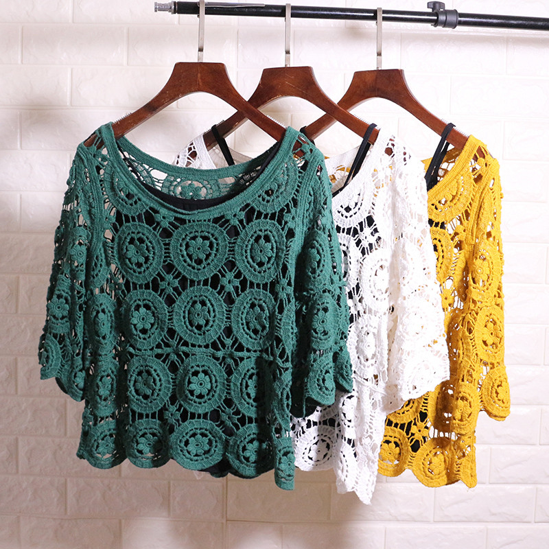 Мереживна блузка-накидка (в кольорах)