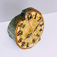 Часы настольные из искусственно состаренного натурального дерева. Уникальная авторская ручная работа