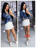 Куртка жіноча джинсова, стильна, 504-005