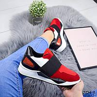 Кроссовки женские Films красные , женская обувь