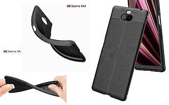 Бампер для Sony Xperia 10 Black - Deexe Cover