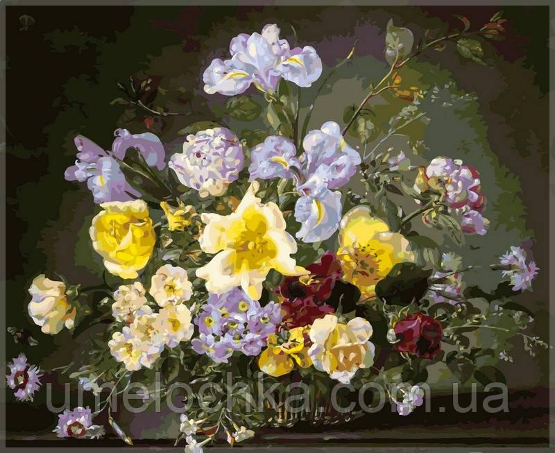 Картина по номерам Babylon Натюрморт из пионов и других цветов