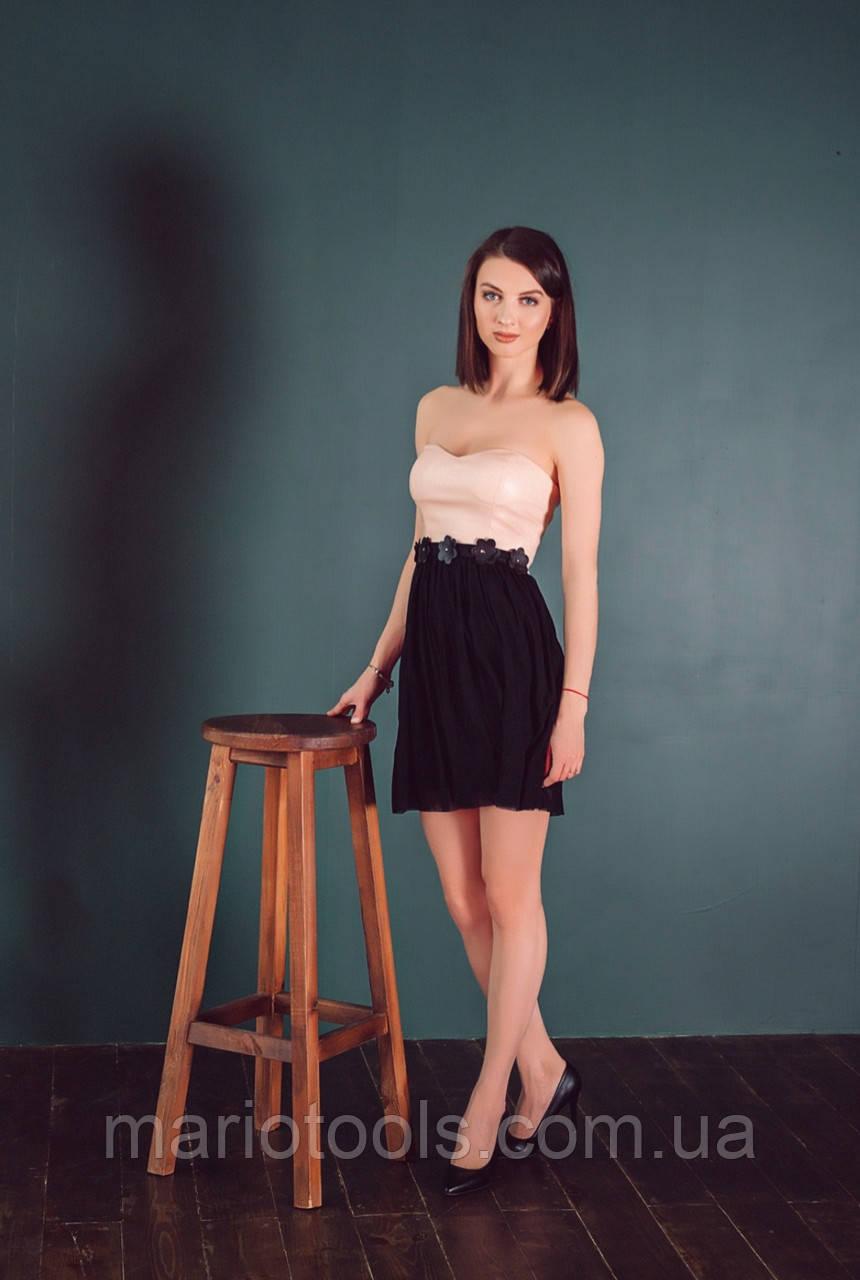 РАСПРОДАЖА! Платье-бюстье с шифоновой юбкой