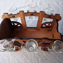 Мини-бар Телега с рюмками, фото 3