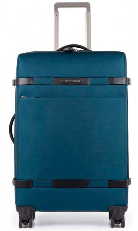Средний тканевый чемодан Piquadro Move2 BV3874M2_BLU 63 л, синий