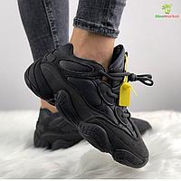 Кроссовки женские Adidas Yeezy Boost 500 черные