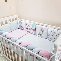 Комплект в детскую кроватку Art Design Зайчики (6 предметов)