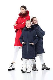 Зимний детский подростковый пуховик для дочки и мамы размеры 32-40, маме от 42 до 56