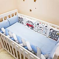 Комплект в детскую кроватку Art Design Машинки (6 предметов)