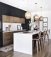 Кухня черный alvic mdf  + шпон., фото 1