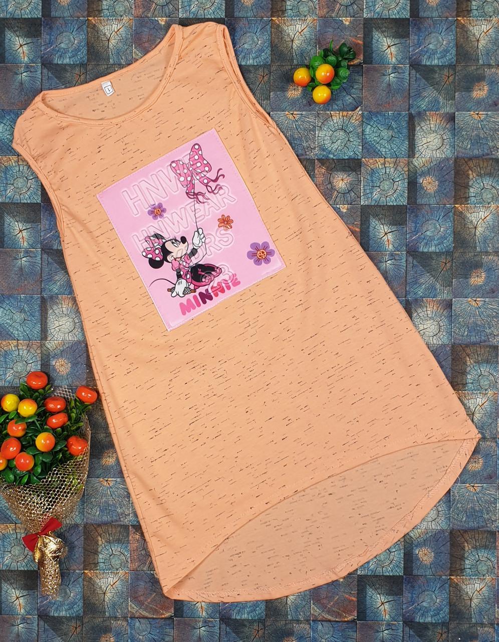 Летний простой сарафан для девочки  р.110-122 персик