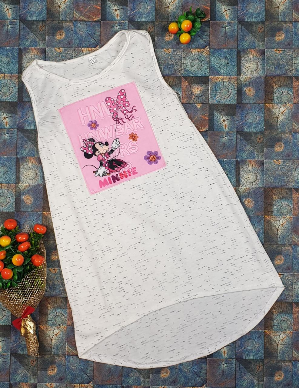 Летний простой сарафан для девочки  р.110-122 молочный