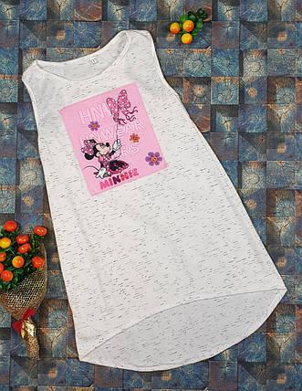 Летний простой сарафан для девочки  р.110-122 молочный, фото 2