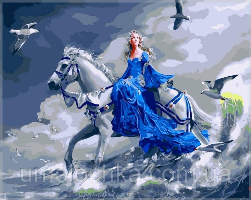Картина по номерам Babylon Девушка на лошади