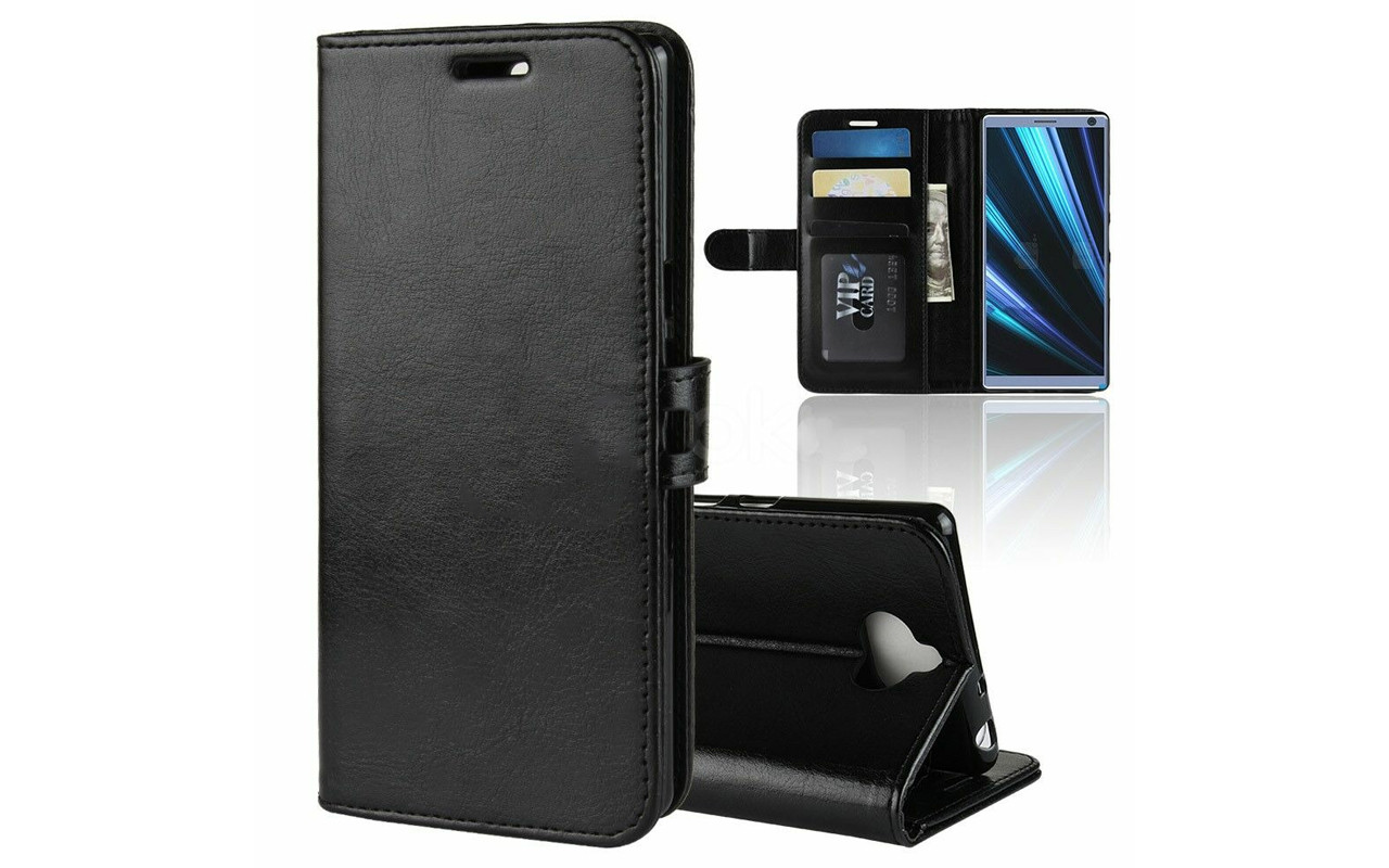 Чехол-книжка для Sony Xperia 10 - Black - Wallet Cover