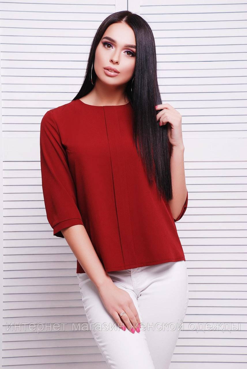 Блуза 1726 бордовый