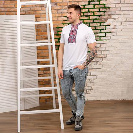 Трикотажная мужская футболка вышиванка короткий рукав, фото 2