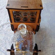 Мини-бар Трактор  с рюмками и бочкой, фото 2