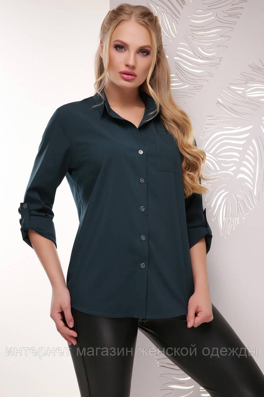 Блуза 1770 темно-зеленый