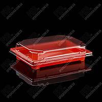 Пластиковая упаковка для суши и роллов ОРАНЖЕВАЯ, C 19 PS, 420 шт/уп