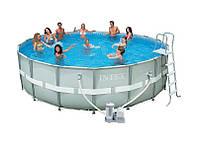 Каркасный круглый Бассейн Intex 28326 (488*122 см) с картриджным фильтром и хлоргенератором