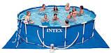 Каркасный круглый Бассейн Intex 28326 (488*122 см) с картриджным фильтром и хлоргенератором, фото 6
