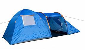 Туристическая палатка Coleman 1901 6-ти местная. 2-х слойная. 2-х комнатная. Тамбур