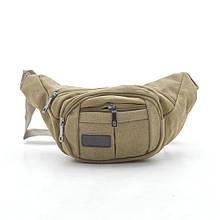 Мужская сумка на пояс 2001 коричневая