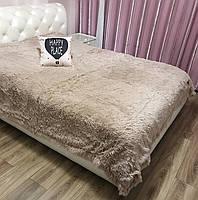 Покривало на диван ліжко з великим ворсом, якісний плед на диван ліжко, хутряне покривало на диван ліжко, покривало травичка на, фото 4