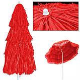 Пляжний зонт ГАВАІ 1,6м. Гавайська пляжна парасолька 160см, фото 4