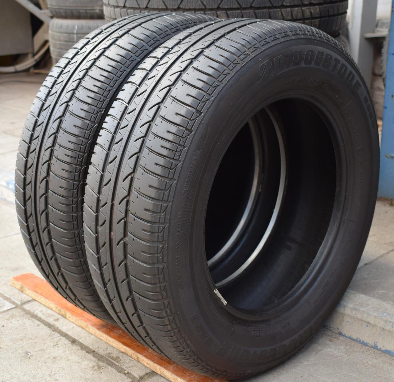 Шины б/у 195/65 R15 Bridgestone B250, ЛЕТО, 5.5 мм, пара