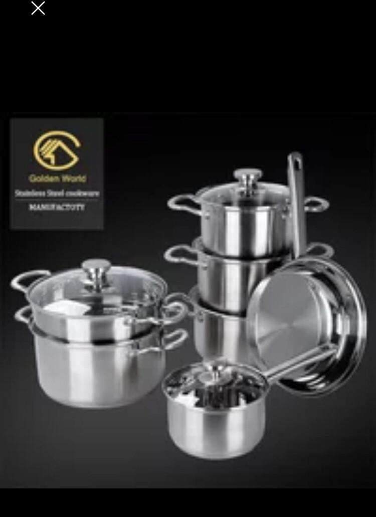 Набор кухонной посуды 12 предметов