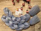 💙Канекалон однотонный, пряди цветные искуссвенных волос для кос, голубой💙, фото 6