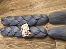 💙Канекалон однотонный, пряди цветные искуссвенных волос для кос, голубой💙, фото 5