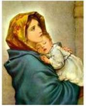 """Набір алмазної мозаїки """"Мадонна з немовлям"""" ТА-1146"""