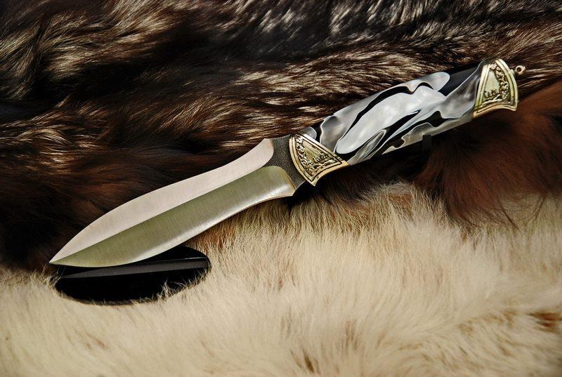 """Охотничий нож ручной работы """"Valor"""", N690"""